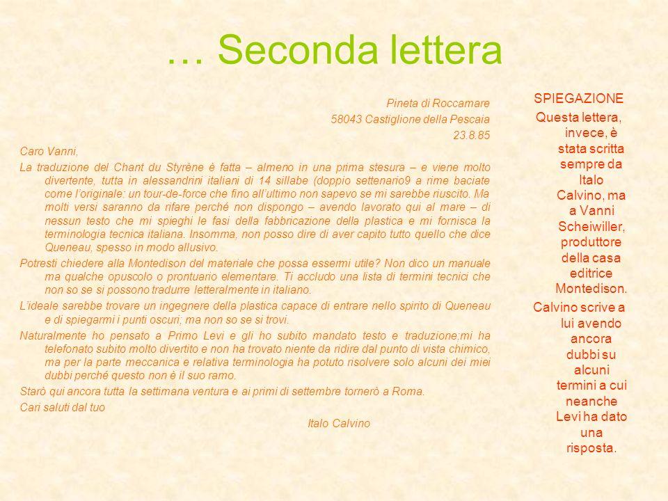 … Seconda lettera SPIEGAZIONE