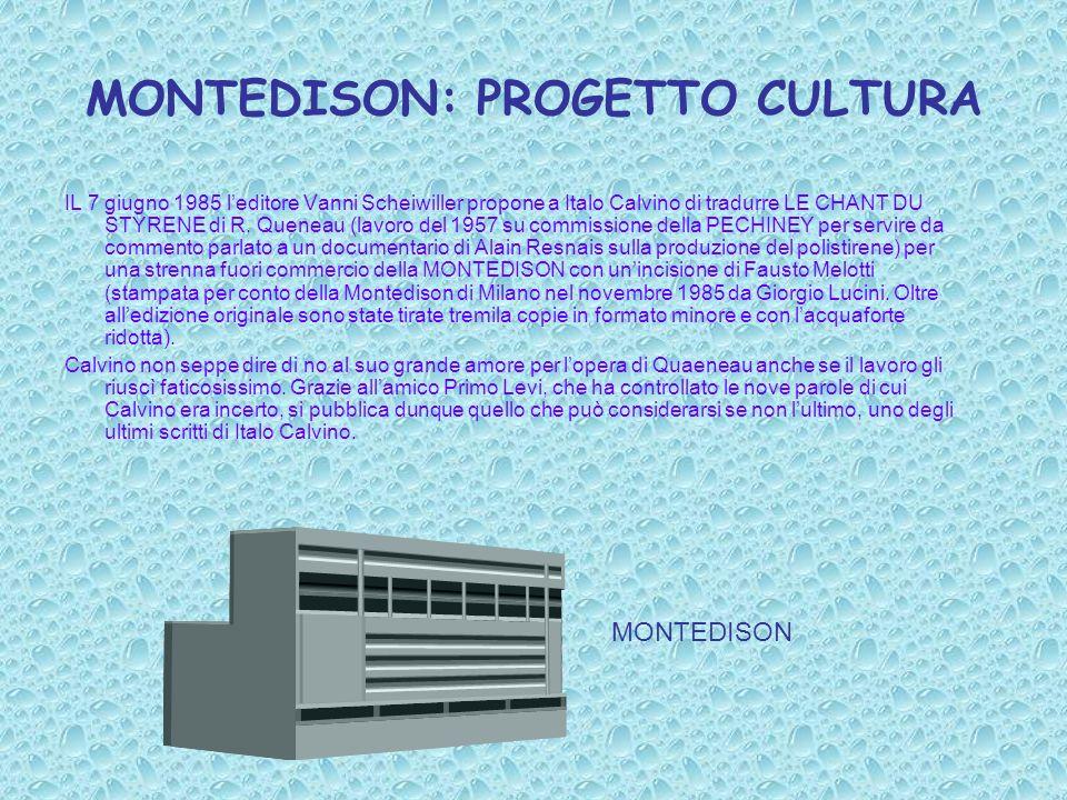 MONTEDISON: PROGETTO CULTURA