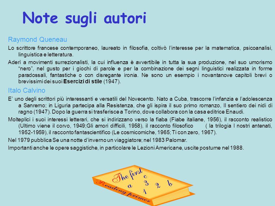 Note sugli autori Raymond Queneau Italo Calvino