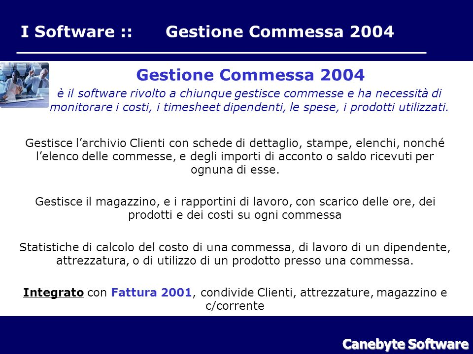 I Software :: Gestione Commessa 2004