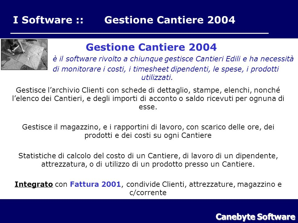 I Software :: Gestione Cantiere 2004