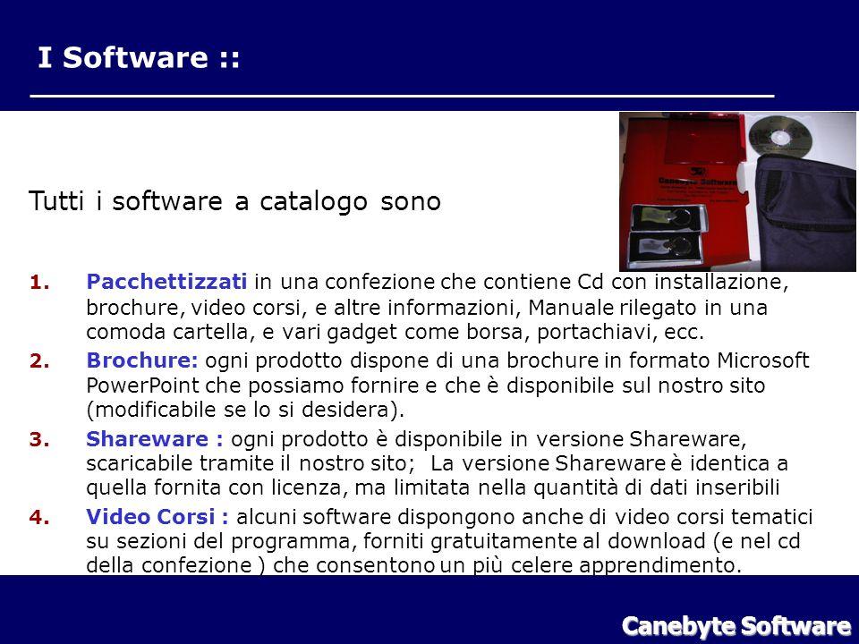 I Software :: Tutti i software a catalogo sono Canebyte Software