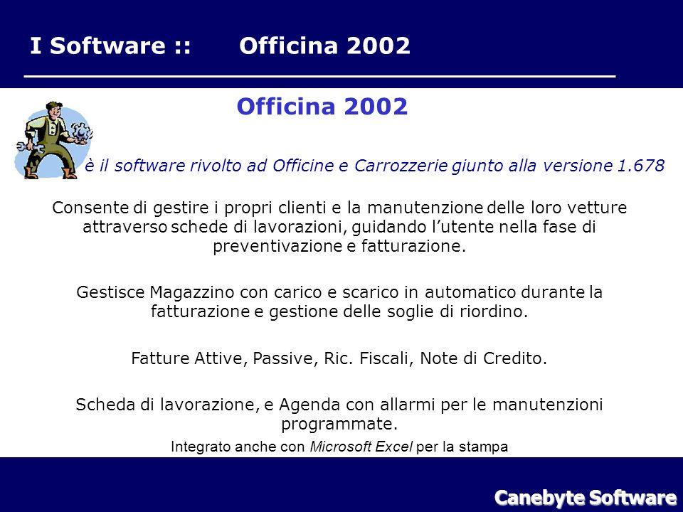 I Software :: Officina 2002 Canebyte Software