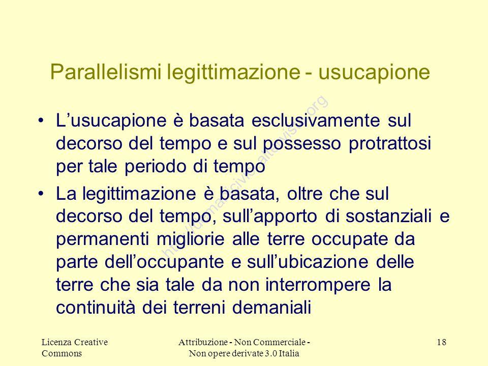 Parallelismi legittimazione - usucapione
