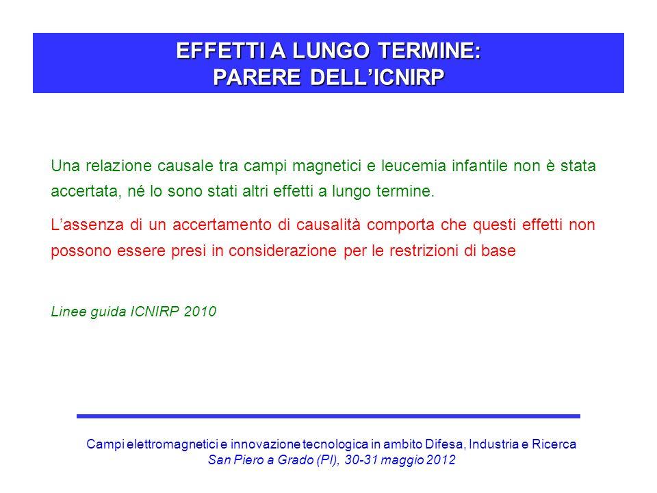 EFFETTI A LUNGO TERMINE: PARERE DELL'ICNIRP