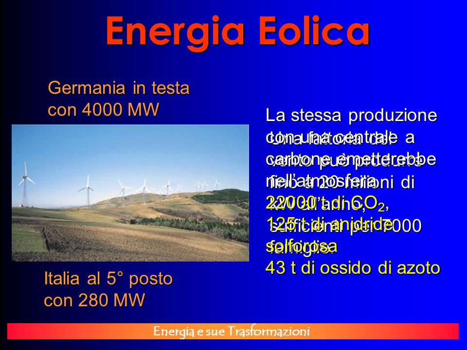 Energia Eolica Germania in testa con 4000 MW
