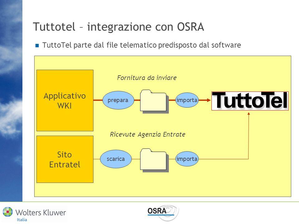 Tuttotel – integrazione con OSRA