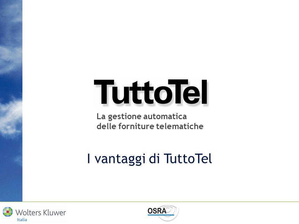 I vantaggi di TuttoTel La gestione automatica
