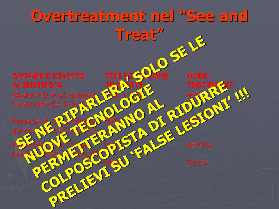 Overtreatment nel See and Treat