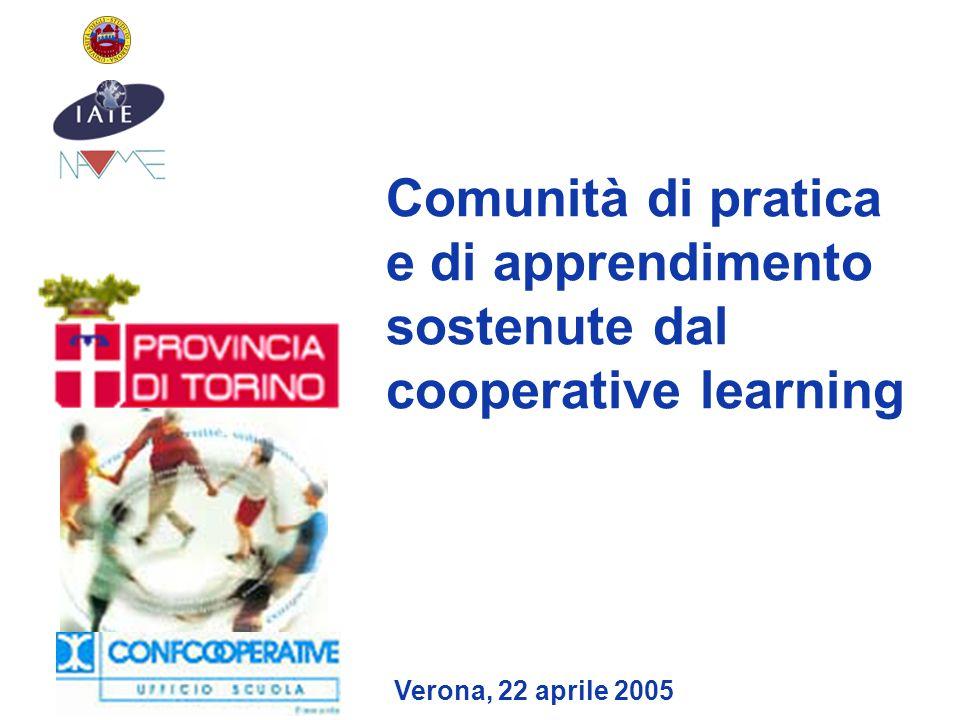 Comunità di pratica e di apprendimento sostenute dal cooperative learning