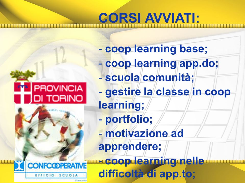 CORSI AVVIATI: coop learning base; coop learning app.do;