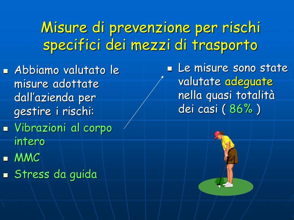 Misure di prevenzione per rischi specifici dei mezzi di trasporto