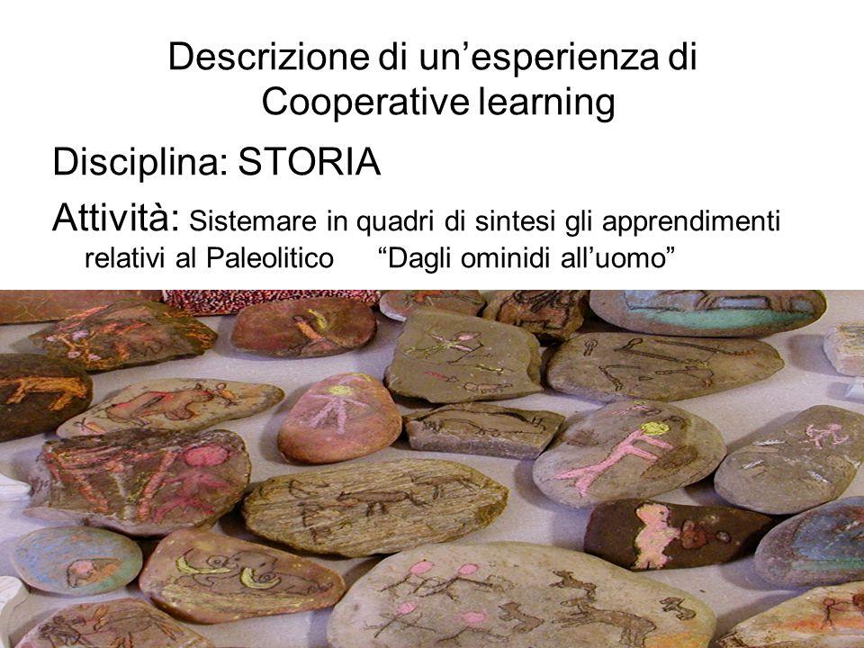 Descrizione di un'esperienza di Cooperative learning