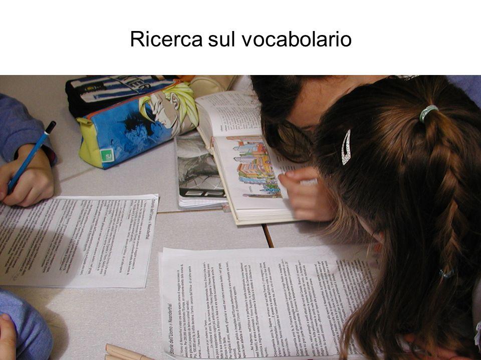 Ricerca sul vocabolario