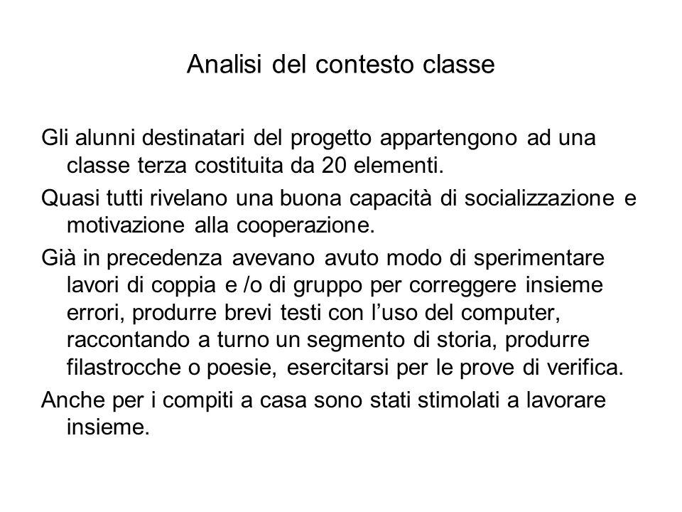 Analisi del contesto classe