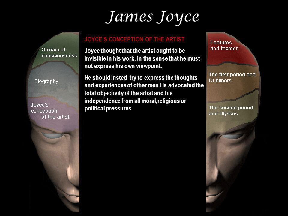James Joyce JOYCE'S CONCEPTION OF THE ARTIST