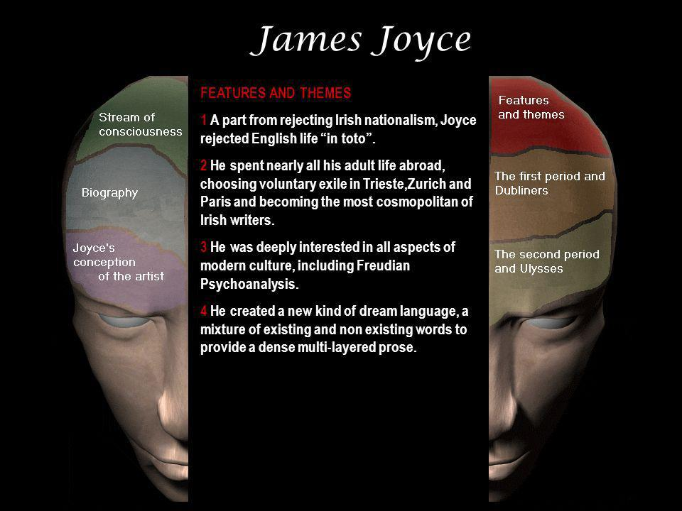 James Joyce FEATURES AND THEMES