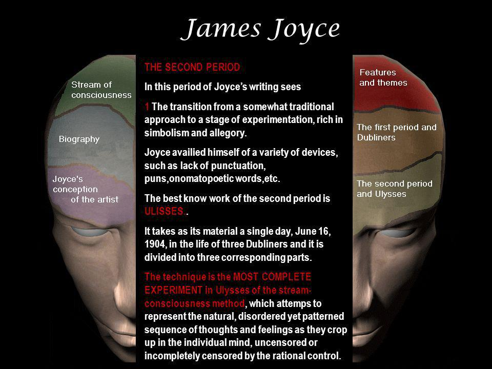 James Joyce THE SECOND PERIOD In this period of Joyce's writing sees