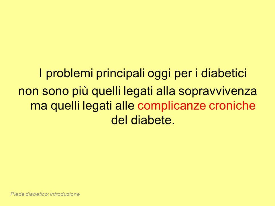 I problemi principali oggi per i diabetici
