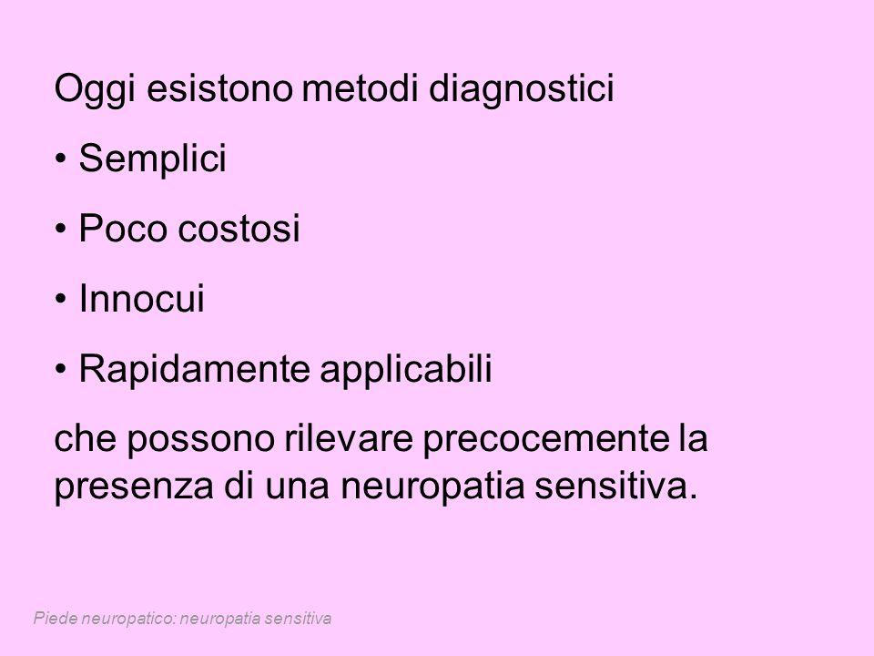 Oggi esistono metodi diagnostici Semplici Poco costosi Innocui