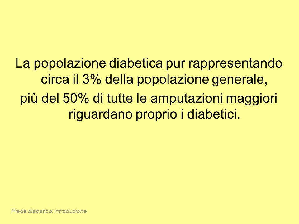 La popolazione diabetica pur rappresentando circa il 3% della popolazione generale,