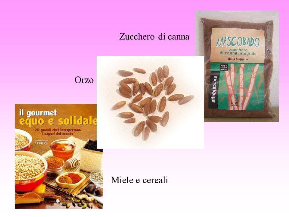 Zucchero di canna Orzo Miele e cereali