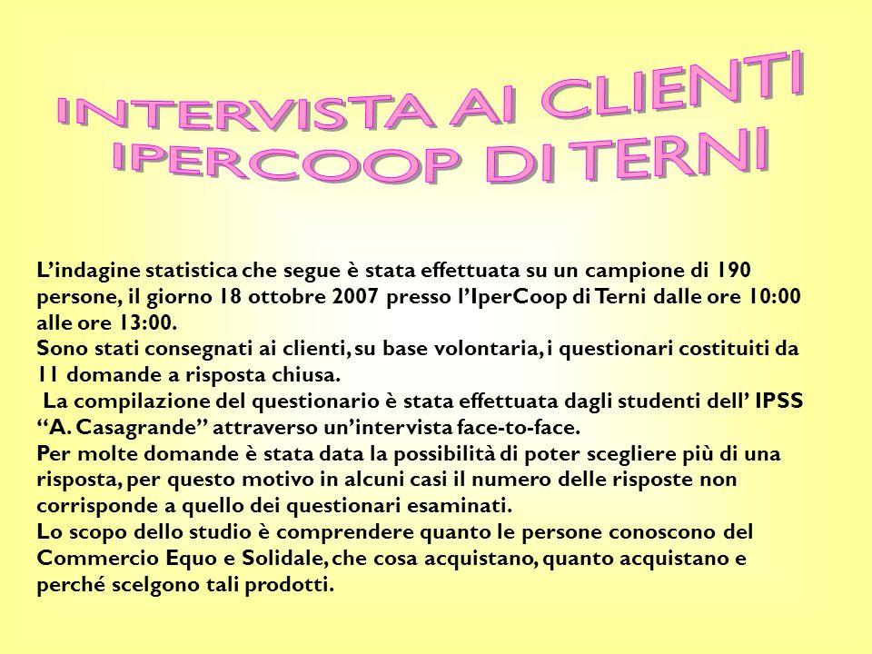 INTERVISTA AI CLIENTI IPERCOOP DI TERNI