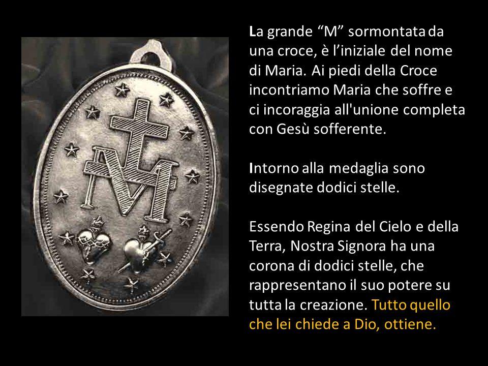 La grande M sormontata da una croce, è l'iniziale del nome di Maria