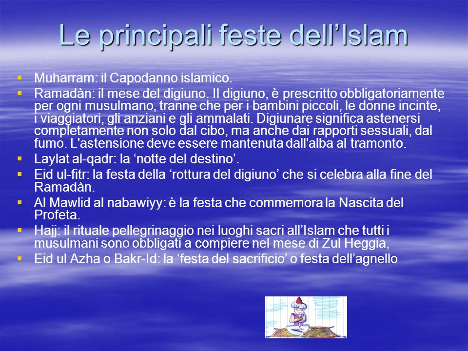 Le principali feste dell'Islam