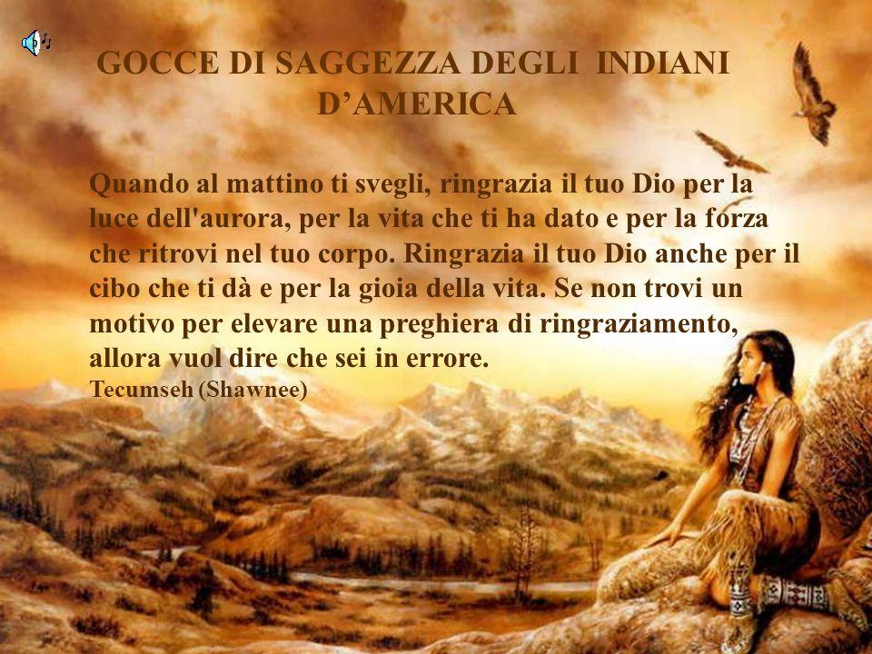 GOCCE DI SAGGEZZA DEGLI INDIANI D'AMERICA