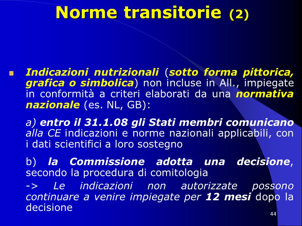 Norme transitorie (2)