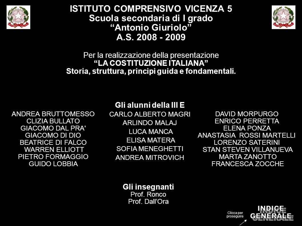 INDICE GENERALE ISTITUTO COMPRENSIVO VICENZA 5