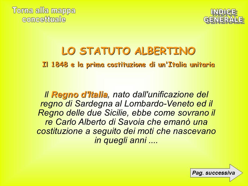 Il 1848 e la prima costituzione di un Italia unitaria