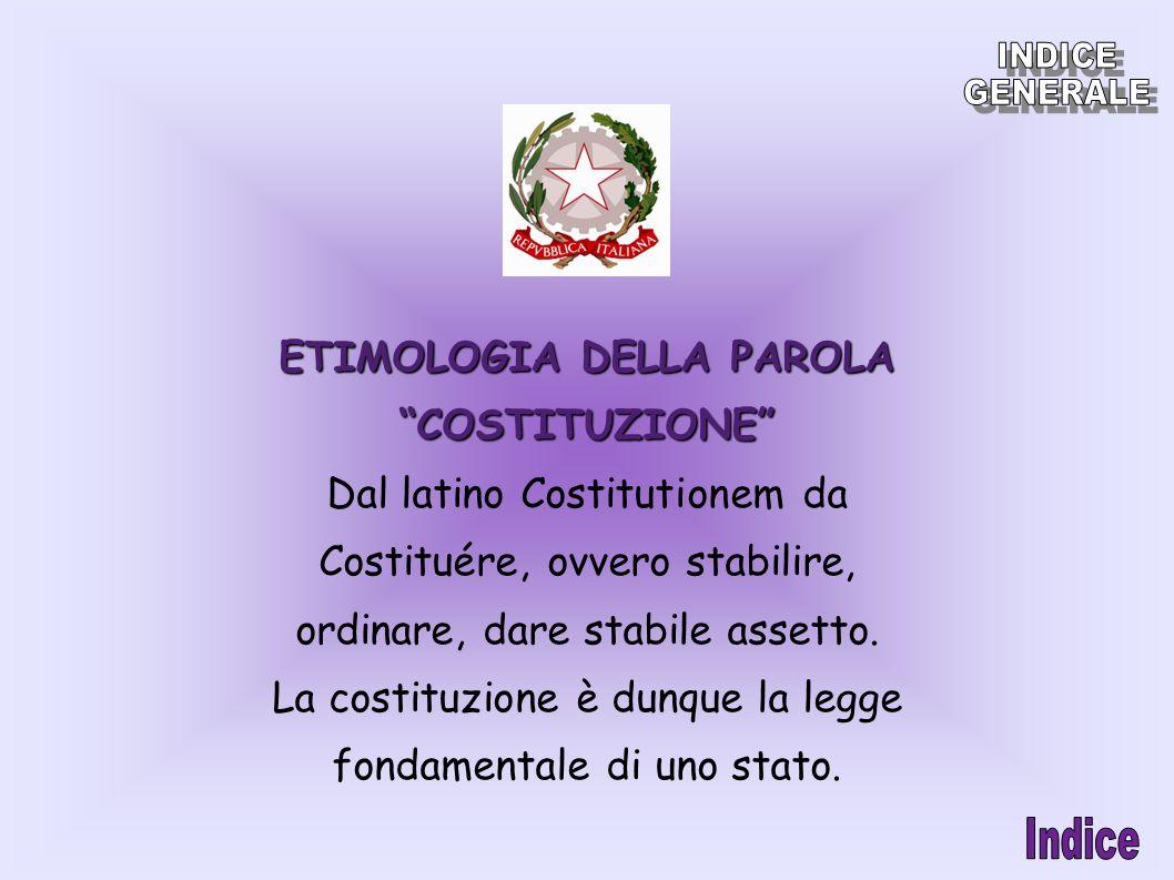 ETIMOLOGIA DELLA PAROLA COSTITUZIONE
