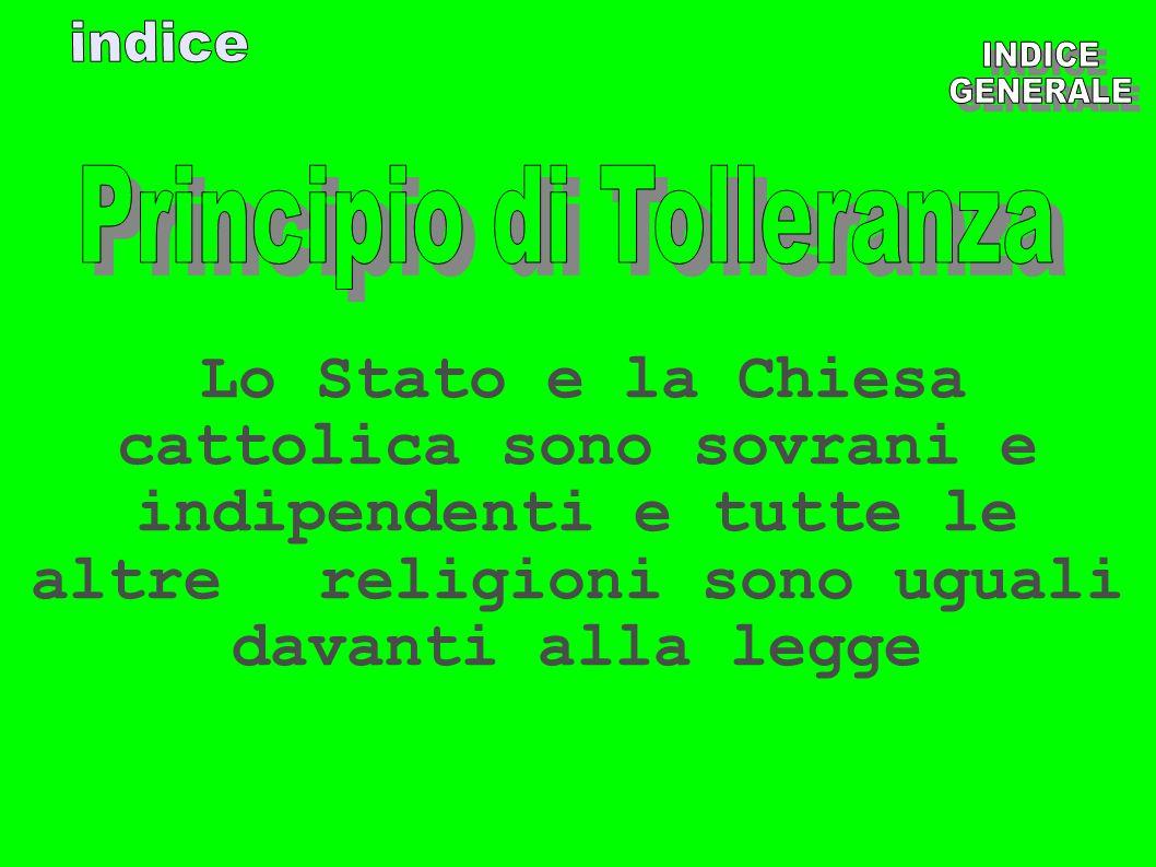 Principio di Tolleranza
