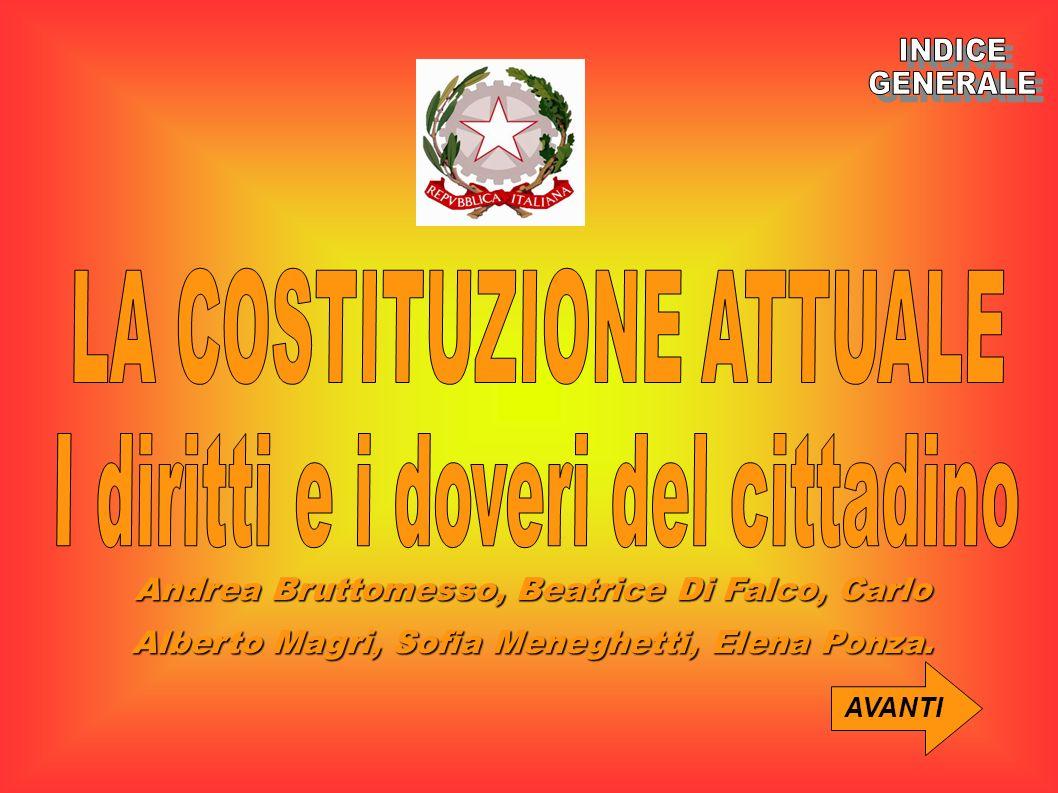 LA COSTITUZIONE ATTUALE I diritti e i doveri del cittadino