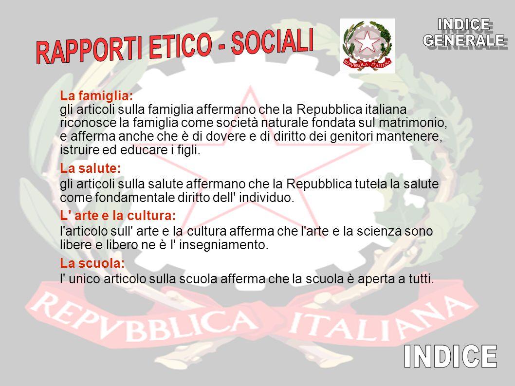RAPPORTI ETICO - SOCIALI