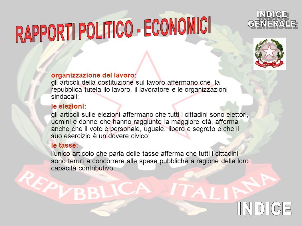 RAPPORTI POLITICO - ECONOMICI