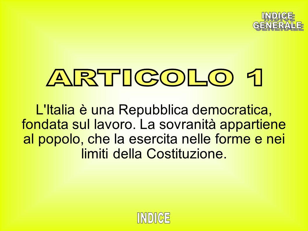 INDICE GENERALE. ARTICOLO 1.