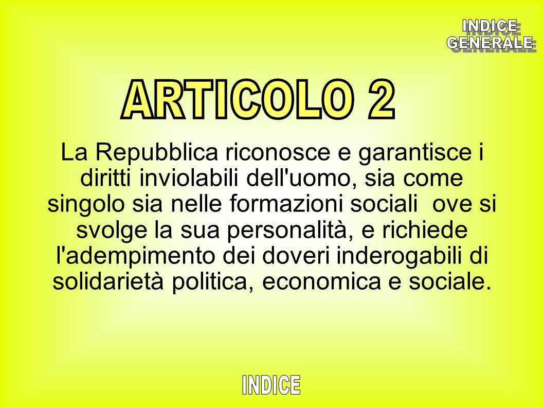 INDICE GENERALE. ARTICOLO 2.