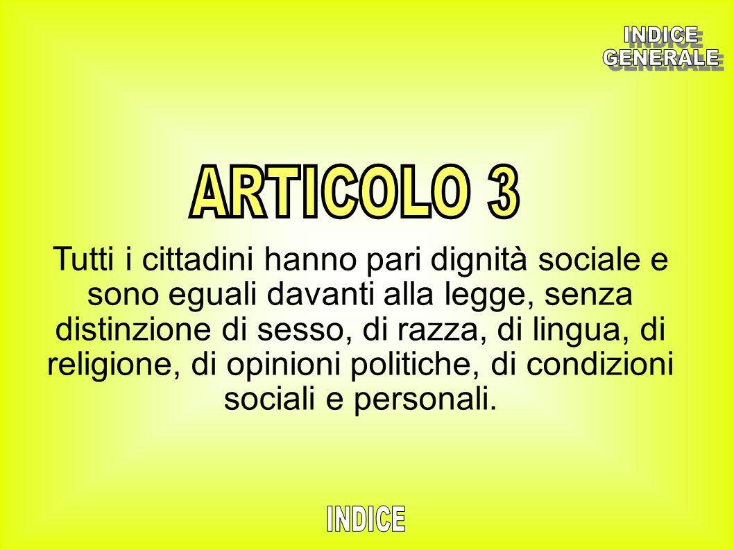 INDICE GENERALE. ARTICOLO 3.