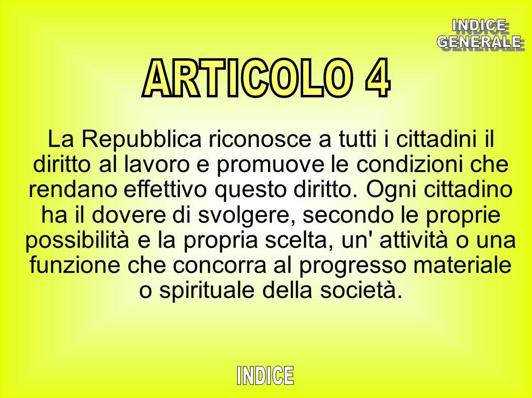 INDICE GENERALE. ARTICOLO 4.
