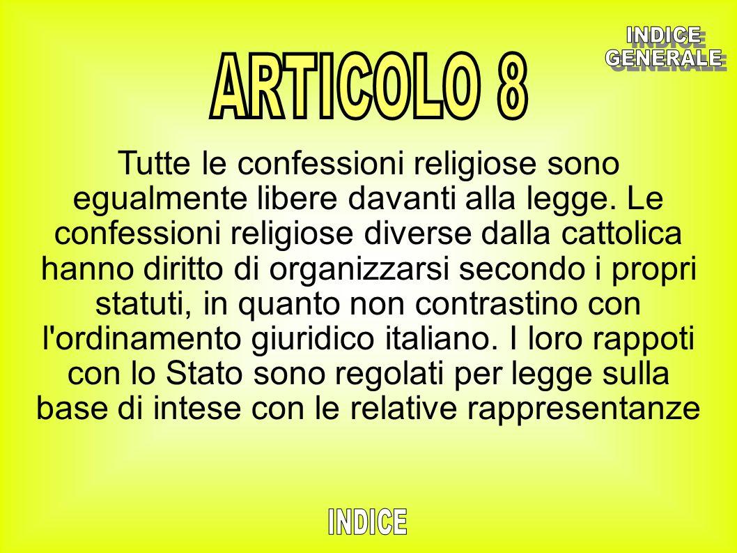 INDICE GENERALE. ARTICOLO 8.