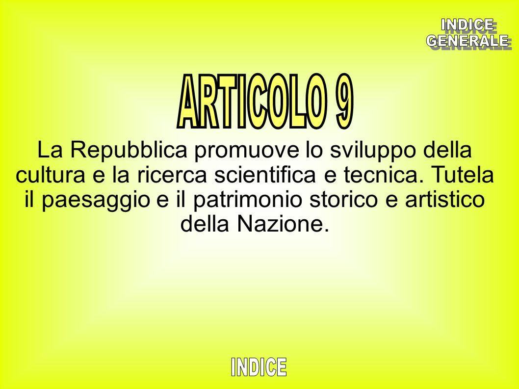 INDICE GENERALE. ARTICOLO 9.