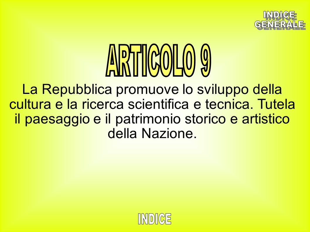INDICEGENERALE. ARTICOLO 9.