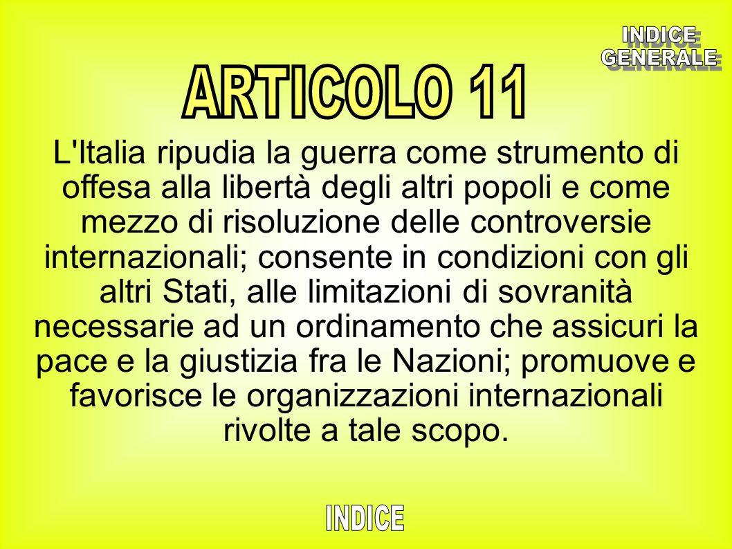 INDICE GENERALE. ARTICOLO 11.