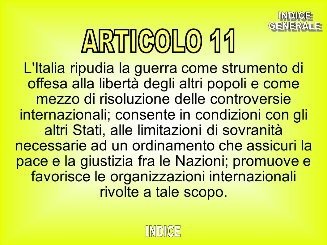 INDICEGENERALE. ARTICOLO 11.