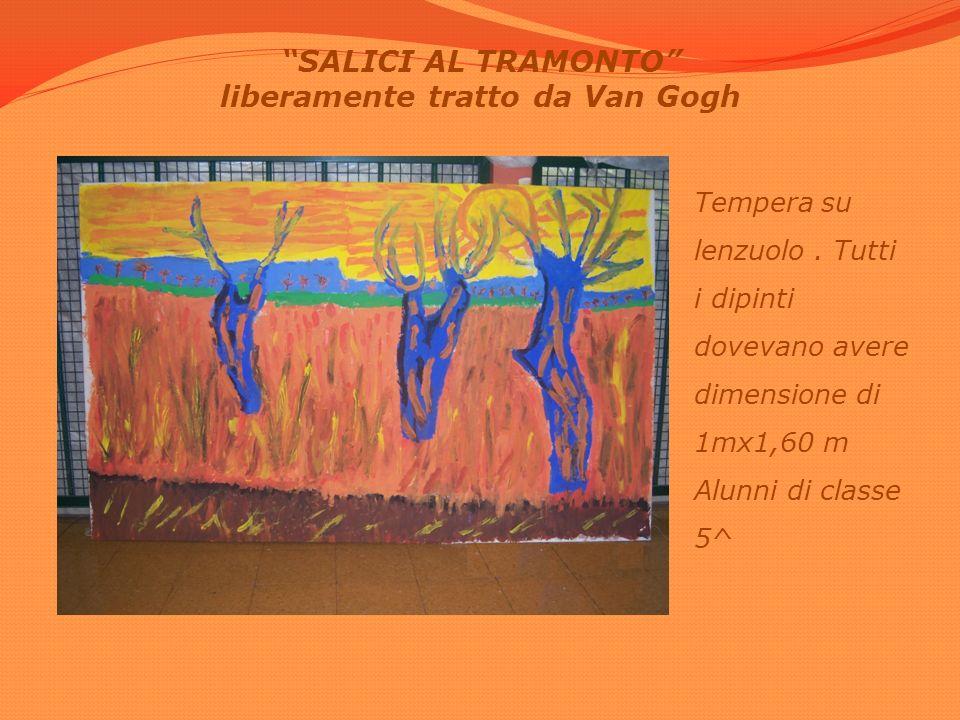SALICI AL TRAMONTO liberamente tratto da Van Gogh