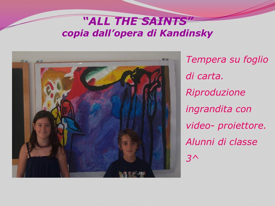 ALL THE SAINTS copia dall'opera di Kandinsky