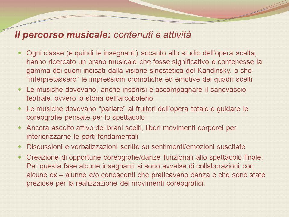 Il percorso musicale: contenuti e attività